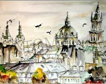 NEW. Ukraine. Lviv. Autumn time. Old architecture.