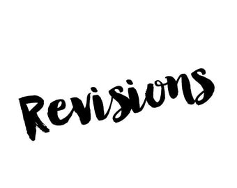 Revisions on exsisting order - within 3 days of order only