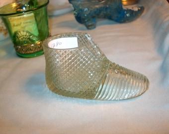 Vintage Pressed Glass Shoe