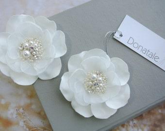 Wedding Hair Piece -Wedding hair flower-Ivory hair flower Bridal hair piece- Bridal hair flower - Floral hair piece- Bridal head piece-SOFIA