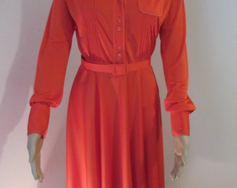 """Vintage Red 1960's Dress - Chest 38"""""""