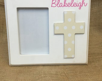 Monogrammed Baby Picture Frame and