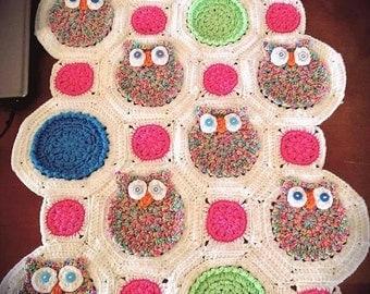 Crochet Owl Afghan