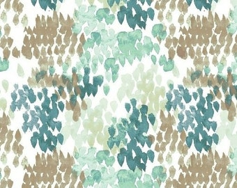 Flora Lawn by Kelly Ventura Fields in Teal - 1/2 yard cotton lawn fabric