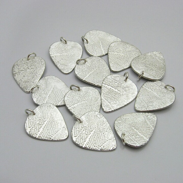 Fingerprint footprint jewelry silver by atimelessimpression for Fingerprint jewelry by first impressions