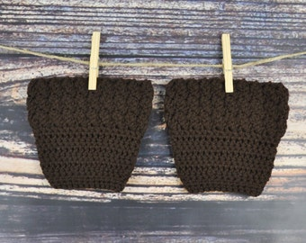 Brown Boot Cuffs - Boot Accessories