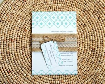 Rustic Wedding Invitation Suite - Sample
