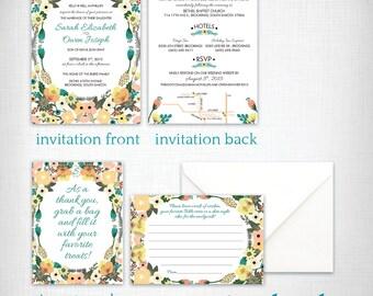 Wedding invitations: Sarah + Evan