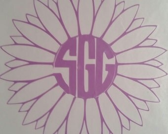 Vinyl Flower Outline Decal