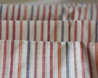 Multicolor Striped Cotton Khadi Fabric / Skin Friendly Fabric / Eco-Friendly Fabric / Light Weight Khadi Fabric / Shirting Fabric..