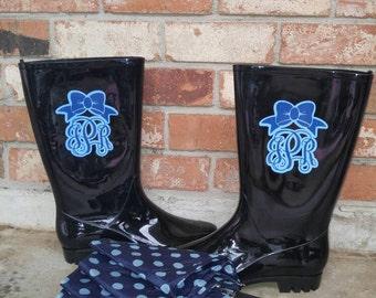 Monogram for rain boots (2)