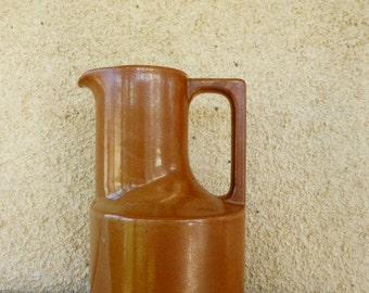 Jar, DECANTER, pitcher gres,  vintage 1970, from BRENNE made in france, artisanal