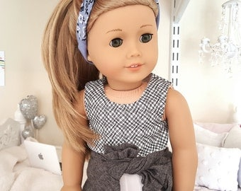 18 inch doll black and white crop top
