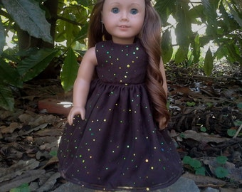 american girl doll brown sequence dress