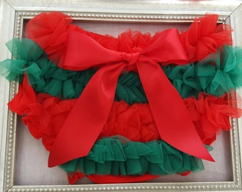 Christmas Bloomers, Baby bloomers, Diaper Covers, Red and Green Christmas  Bloomers