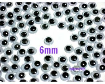 300pcs 6mm Plastic Eyes Googly Eyes for Craft.