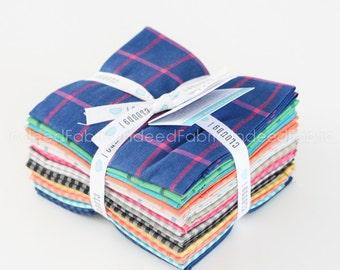 FAT QUARTER Bundle- Window Dressing & Checks Please- Cloud 9 Fabrics, Certified Organic Cotton, Fourteen Prints