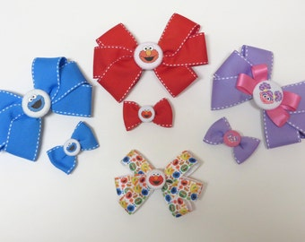 Sesame Street Characters Hair Bows - Multiple Characters & Sizes!