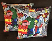 Toss Pillow Marvel Comics Iron Man Thor Spiderman Wolverine Hulk Captain America Avengers Plush Bed Pillow Geeky Sofa Cushion Comic Book Bed