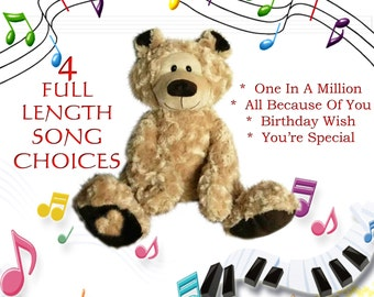 BANJO The Personalised Singing Teddy Bear - I sing Your Child's NAME!!