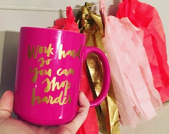 HOT PINK MUG // Fully Customizable