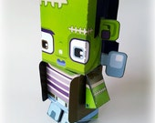 Halloween paper toys - Frankcis Monster DIY craft activity kit - PHYSICAL PRODUCT