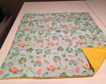 Babyville Boutique playful pond frogs PUL waterproof material changing pad