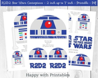 R2D2 Star Wars Centerpieces - R2D2 centerpieces - Star Wars centerpieces - Star Wars party - Star Wars The Force Awakens centerpieces