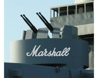 Marshall Amp Decal AB08