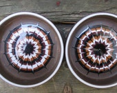 Discontinued Pair  Muramic Hornsea England Lancaster Vitramic pin dishes, coasters