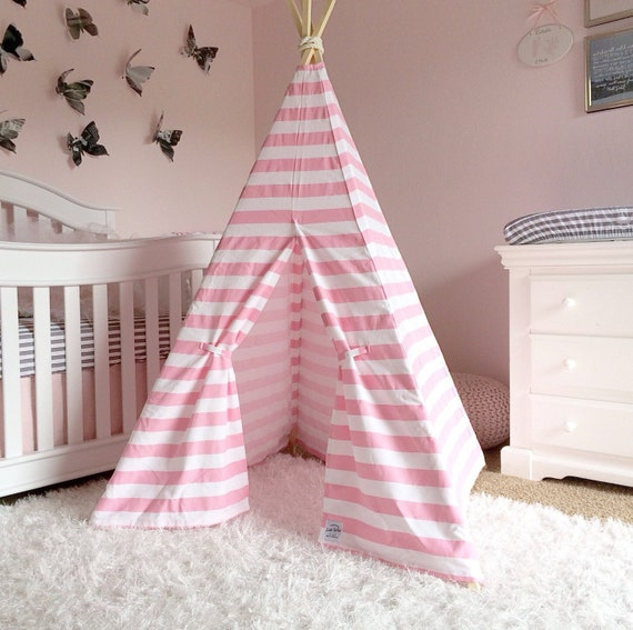 Like this item? & Kids Teepee Play Tent Pink Stripe girls teepee girls tipi