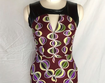 Leather & African Print Tunic