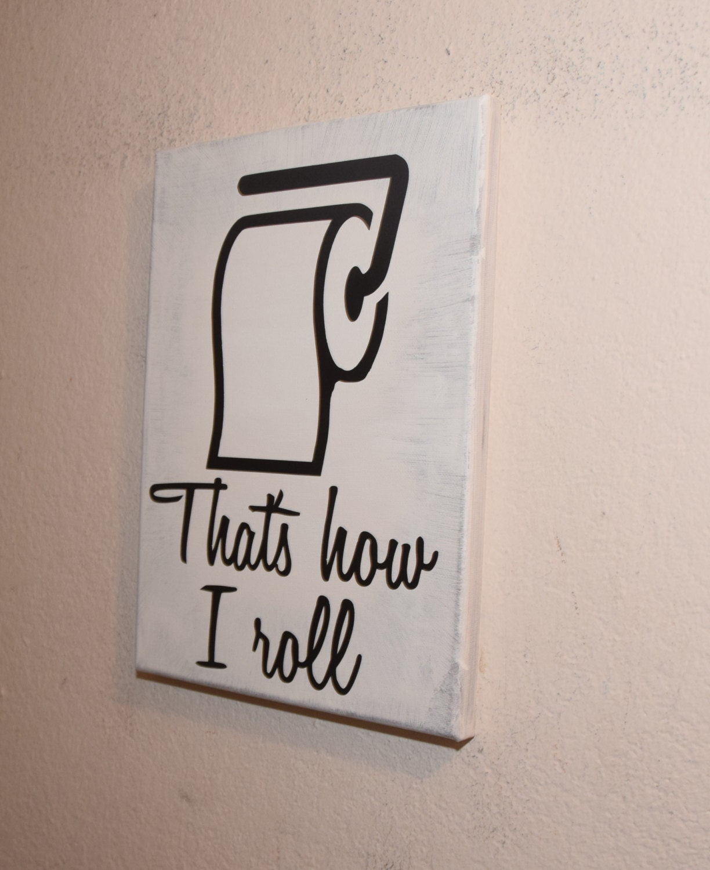 Bathroom Wall Humor: Bathroom Decor Toilet Humor Sign Funny By NicolettesCreations