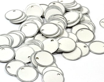 Metal Rim Tags-Choice of 25 - 200 Tags-Organizing Tags-Shipping Tags-Gift Tags-Party Favors