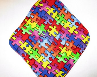 "SALE RTS 6.25 6.5"" Tween Cloth Reusable Regular Flow Cloth Pad  Autism Fabric"