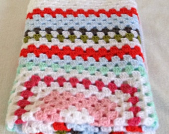 knitted baby boy blanket, coverlet, security blanket, crochet knit baby blanket, newborn boy blanket, baby afghan, lovey, baby shower gift,