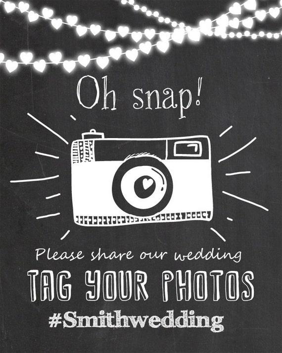 Social media wedding sign hashtag wedding sign Chalkboard hashtag sign Printable Chalkboard hashtag sign PRINTABLE JPG PDF