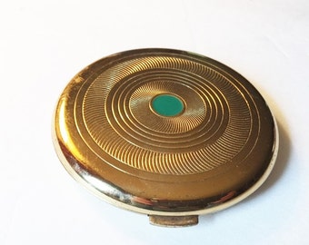 Vintage Coty Compact with Green Dot Coty Air Spun Powder Glamorous Compact Collectible Vanity Vintage Makeup