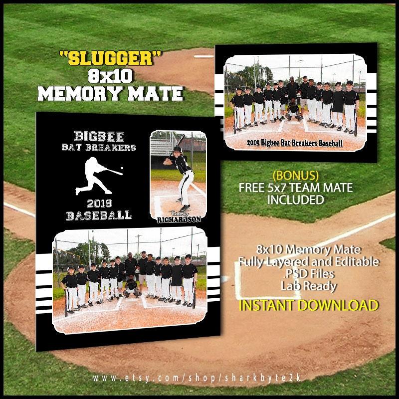 2017 baseball memory mate template for photoshop slugger. Black Bedroom Furniture Sets. Home Design Ideas