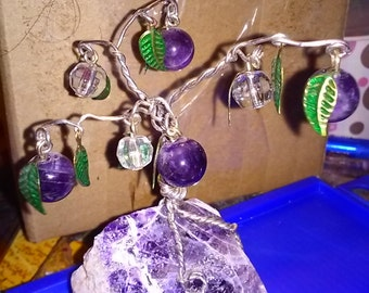 Amethyst and Wire Tree