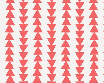 Coral Arrow Stripe Fabric - By The Yard - Gender Neutral / Geometric