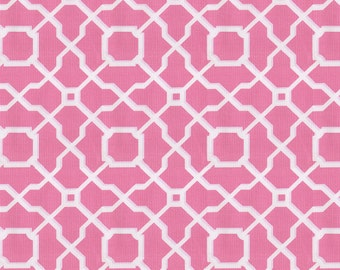 Hot Pink Geo Fabric - By The Yard - Girl / Pink / Home Decor