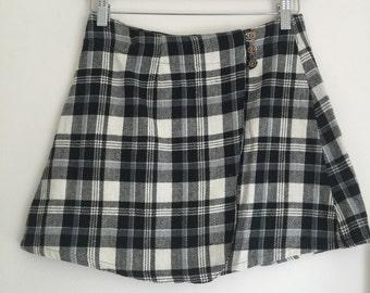 VTG plaid mini skirt / 8-10