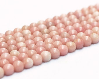 Pink Opal Beads -- Wholesale Loose Round Ball Bead With Well Ploished Gemstone Natural Stone 4mm 6mm 8mm 10mm 12mm MHA-156