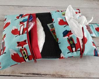 Fox Diaper Bag Boys   Customized Diaper Bag   Diaper Changing Clutch   Diaper Bag Organizer   Fox Baby Gift   Small Diaper Bag