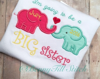 Big sister announcement shirt|Baby announcement shirt|I'm going to be a big sister|Sister announcement shirt|Big Sister shirt