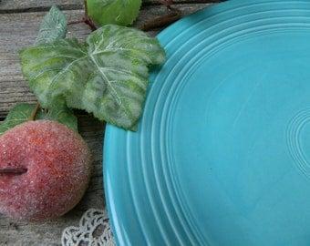 Vintage Retro Homer Laughlin Turquoise - Robin's Egg Blue Fiestaware Platter