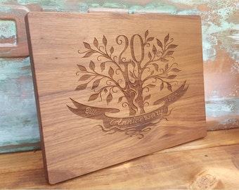 20th Anniversary Gift, Made in USA, 20th Wedding Anniversary Gift for parents,  Personalized / Engraved