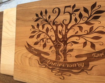 25th Anniversary Gift, 25th Wedding Anniversary gift for parents, Engraved Personalized, 100% USA