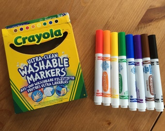 Washable Markers - For use with California Girl Handmade's Coloring Shirts